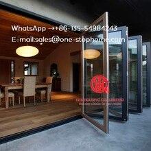 Австралийские стандарты двойное остекление понижает двустворчатая дверь/аккордеон алюминиевые стеклянные патио наружные двустворчатые двери/двустворчатые двери