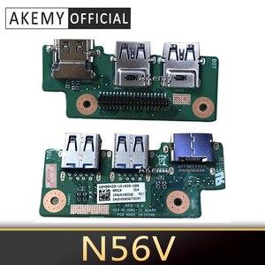 Akemy N56VM For ASUS N56V N56VM N56VZ N56VB N56VV N56D N56DP HDMI IO BOARD USB board free shipping