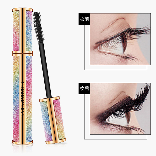 Starry Sky Mascara 4D Waterproof Fiber Silk Eyelash Thick Curling Natural Lengthening Eye Lash rimel 4d Black Eyes Makeup 1
