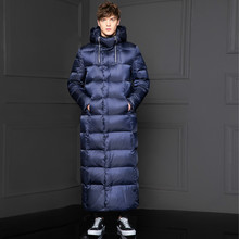 2020 New Goose Men Long Thick Korean Men #8217 s Winter Jackets Down Coat puffer Jacket Doudoune Homme KJ1335 cheap Slim Casual zipper Full Pockets Zippers Thick (Winter) Broadcloth NYLON Polyester White goose down NONE 300g Solid X-Long