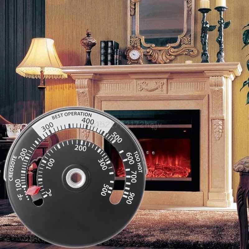 1 Pc cheminée thermomètre bois bûche poêle tuyau feu conduit chauffage en alliage d'aluminium haute qualité Adsorption largement utilisé nouveau