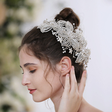 TRiXY H252-S Gorgeous Silver Rhinestone Bridal Tiara Wedding Crown Bride Hair Jewelry Wedding Hair Vine Wedding Flower Headpiece