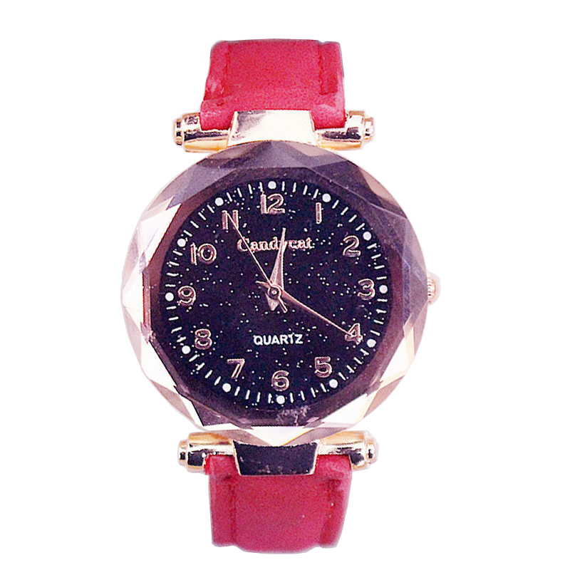 2020 Hot Sale Ladies Watches Fashion Starry Sky Watches Women Casual Watch Quartz Watch Leather Reloj Mujer Cheap Price Dropship