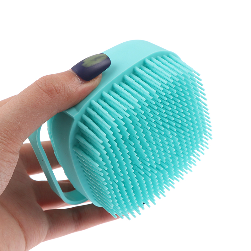 Silicone Bath Brush Scrubber Dispenser Multifunction Bathroom For Babies Body Cleaning