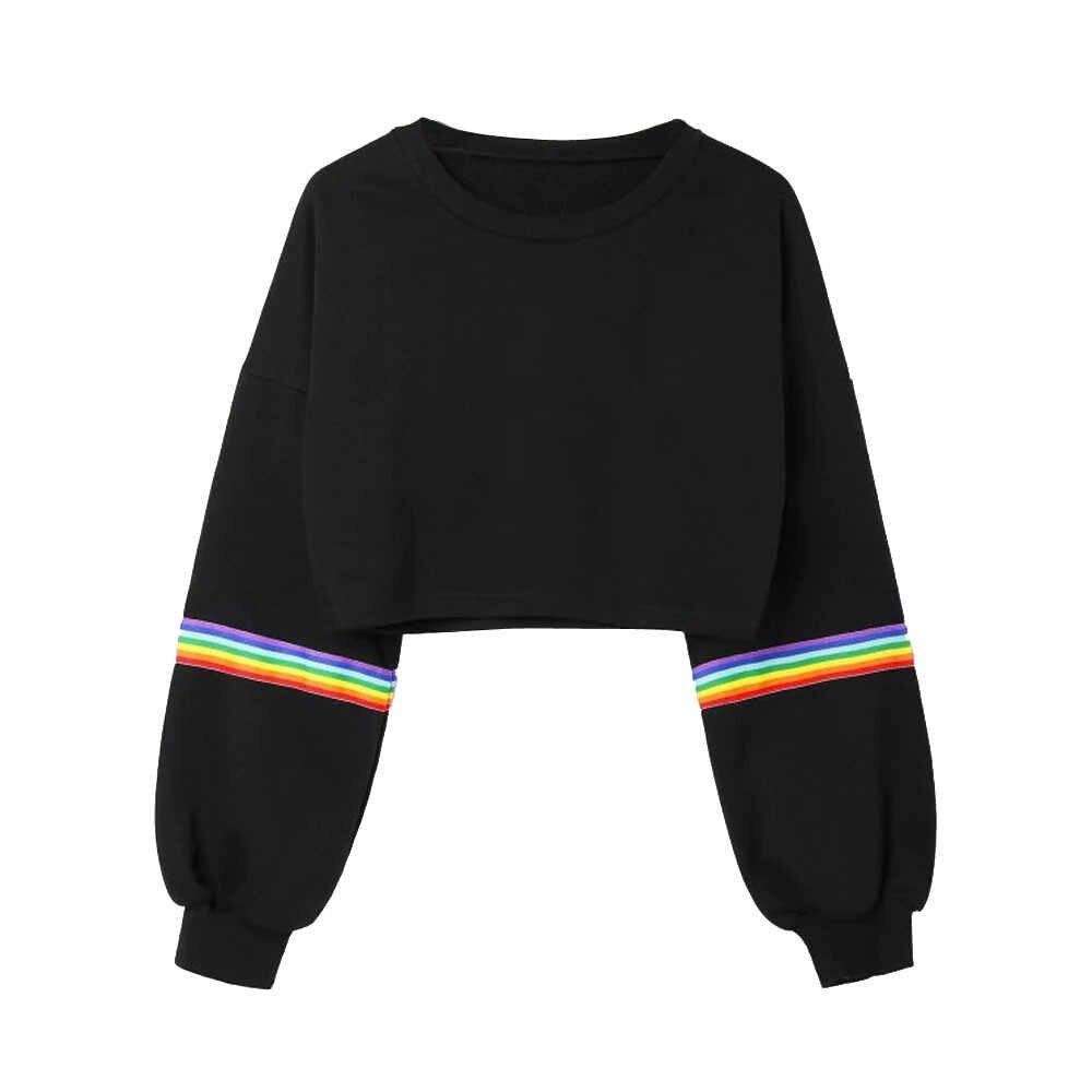 2020 Nieuwe Sociale Harajuku Hoodies Voor Meisjes Effen Kleur Tops Vrouwen Kleding Sweatshirt Lange Mouwen Lente Fluwelen Oversized Hoodie