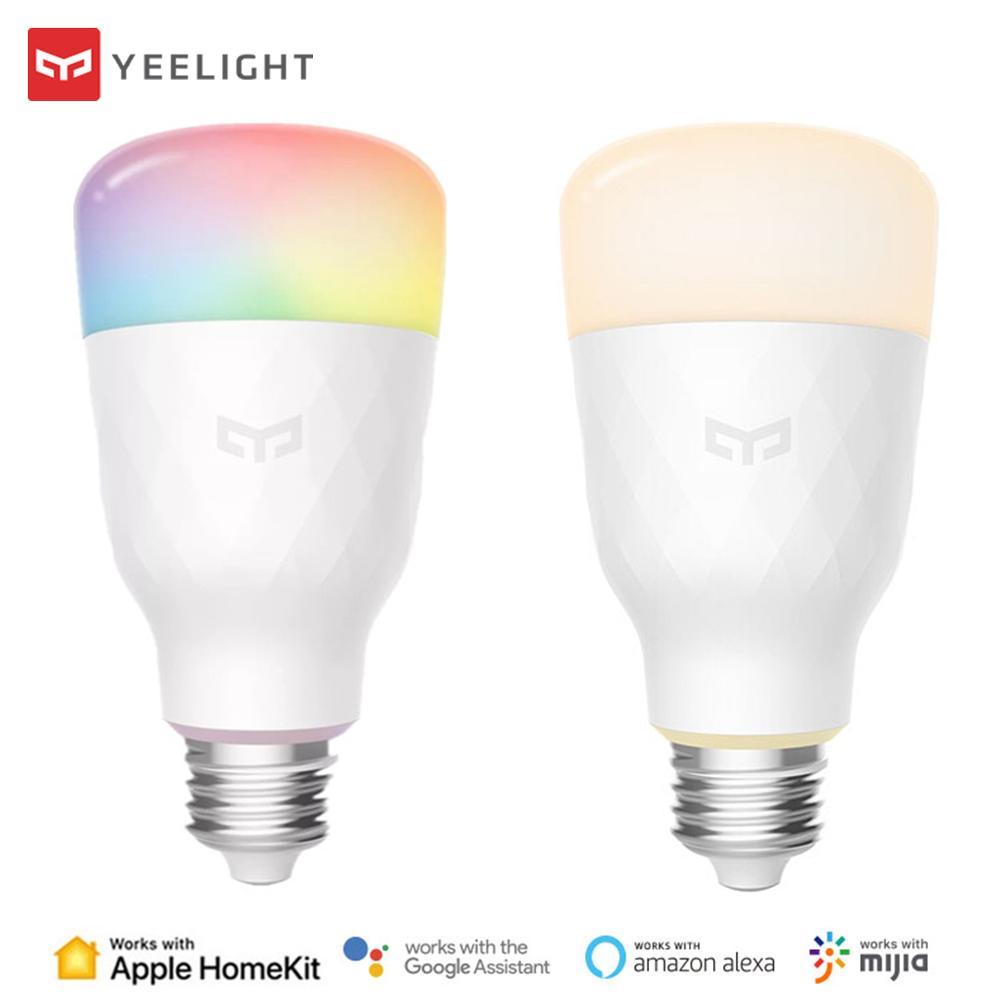 Xiaomi Yeelight Smart LED Bulb 800 Lumen WiFi Eyes Protect 8.5W E27 Lemon Smart Lamp For Mi Home App Apple Homekit White/RGB IOS