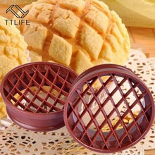 TTLIFE Bread Pineapple Shaped Mold Pastry Cutter Dough Cookie Press Cake Biscuit Stamp Moulds Kitchen Baking Tools