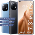 Hot Selling Galaxy M11 Pro 7.3 Inch Mobile Phone 6800mAh 10 Core 16+512GB 32MP+64MP Full Screen Dual SIM 5G Android Smartphone