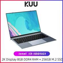 KUU X13 13,5 дюймов Intel i3-1005G1 игровой ноутбук с отпечатком пальца все металлические 8 ГБ ОЗУ 256 ГБ SSD Windows 10 ноутбук с подсветкой