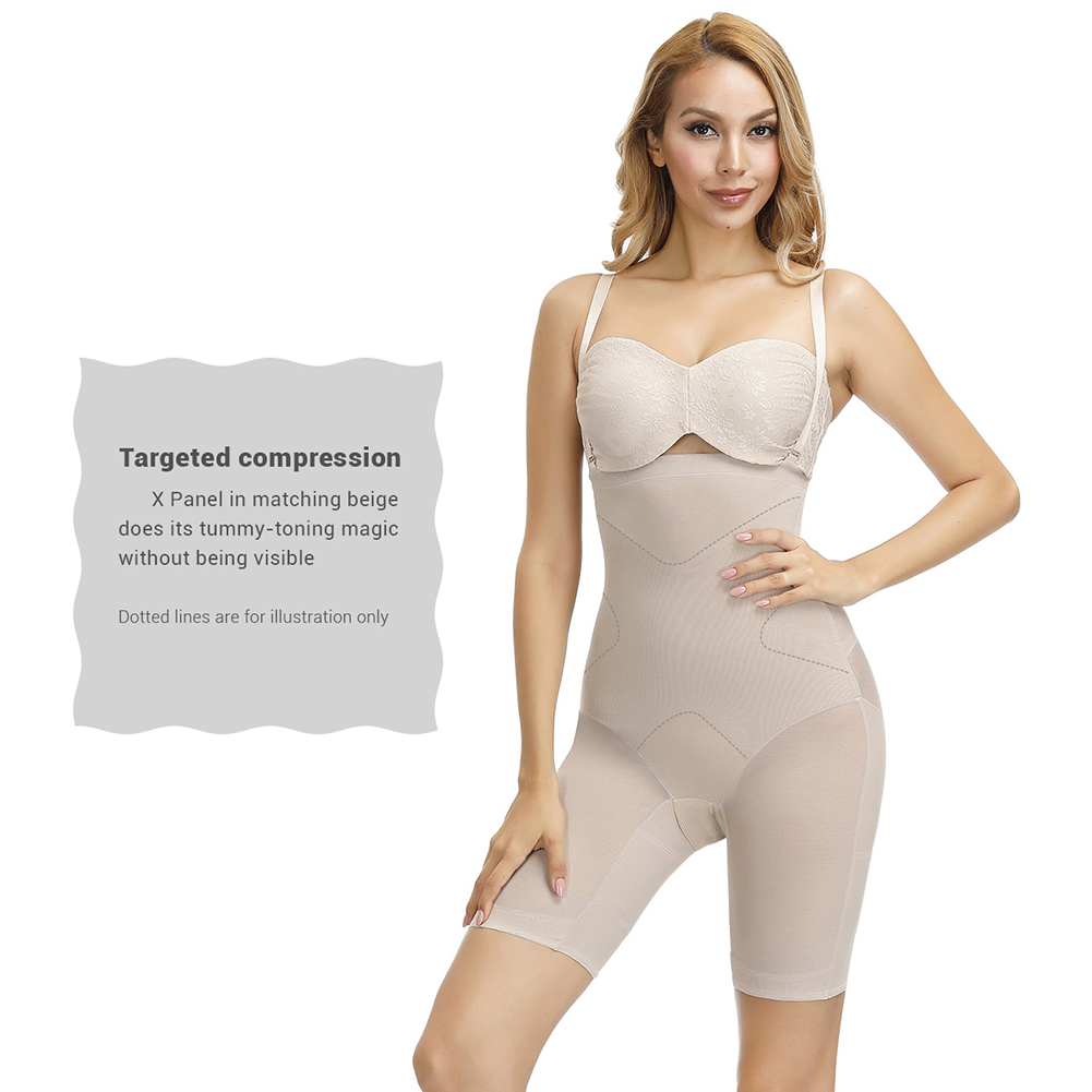 the thigh band design ensure this mid-thigh slimmer will not roll down or up,give you more charming hourglass figure all day long
