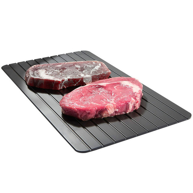 Quick Thaw Chopping Defrost Board Steak Meat Seafood Thawing Plate Aluminum 9 Times Thawing Natural Preservation  Defrost Tray