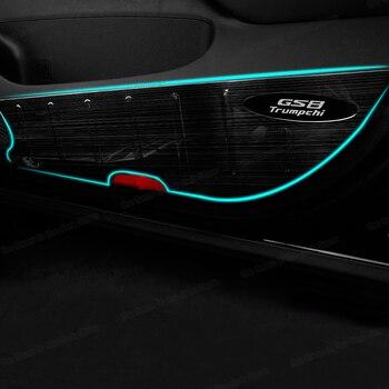 Фото - Lsrtw2017 Stainless Steel Car Door Anti-kick Mat for Trumpchi Gs8 2017 2018 2019 2020 gac накладки на внешние дверные ручки для gac trumpchi gs8 2018 2019 2020