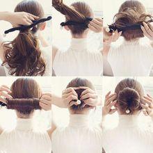 Женские жемчужные инструменты для плетения волос, волшебная губка, губка, Пончик для волос, быстрый запутанный булочка, инструменты для укл...