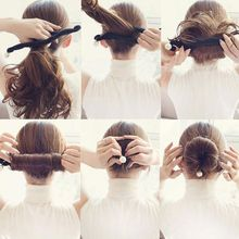 Women Pearl Hair Braiding Tools Magic Sponge Braiders Hairdisk Donut Quick Messy Bun Braider Headwear Styling Tools