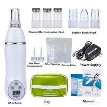 זול 6 טיפים נייד יהלומי Microdermabrasion קילוף מכשיר חטט הסרת עור קליפת יהלומי Dermabrasion פנים עיסוי