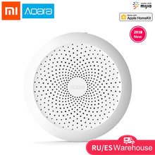 Centro aqara xiaomi Gateway con luz nocturna Led RGB trabajo inteligente para Apple Homekit y Aqara aplicación inteligente para xiaomi Smart home(China)