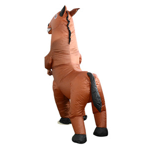 Image 2 - Inflatable Horse Costumes Funny Dolls Halloween Party Performance Carnival Inflatable Costumes for Adult Woman Man
