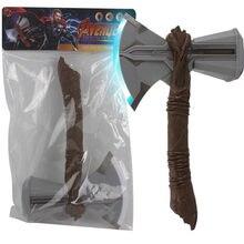 Machado martelo stormbreaker som-iluminação flash cosplay armas filme papel crianças brinquedos trovão martelo indução gravidade