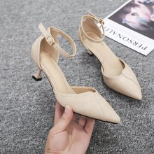 цена на Summer new casual breathable women's high-heeled shoes pointed pointed high-heeled boots women's shoes non-slip women's sandals
