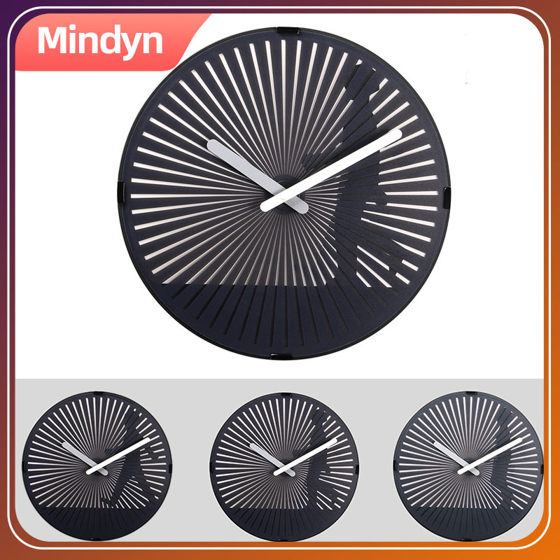Motion Clock Dynamic Dynamic Grating  Illusion  Moire Fringe Hanging Clock Decoration Gift