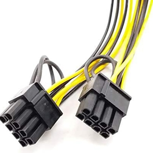 Image 3 - 6PCS GPU VGA PCIe 6 Pin Female to Dual 2X 8 Pin (6+2) Male PCI Express Power Adapter Y Splitter Extension Cable (20cm)