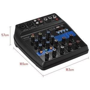 Image 5 - Portable 4 canaux Usb Mini Console de mixage sonore amplificateur de mixage Audio Bluetooth 48V alimentation fantôme pour karaoké Ktv Match partie U