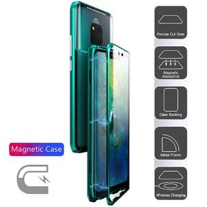 Image 4 - קליטה מגנטית Flip Huawei Mate 20 20Pro 20 לייט טלפון חזרה כיסוי מתכת זכוכית Mate20 Mate20Pro Mate20Lite פרו לייט
