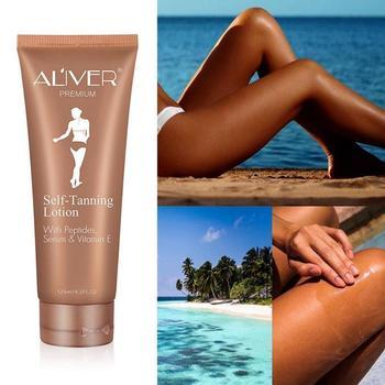 Self Tanning Cream Body Black Bronze Tanning Lotion Foundation Moisturizing Oil Control Face Skin Care Cream Fast Tanning Lotion