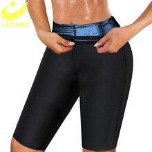 Lazawg gym leggings sauna shapers calças quente suor emagrecimento mulheres treino de fitness curto shapewear workout cintura trainer