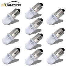 RUIANDSION – ampoule Led E10 F5 DIP AC 220V-230V, ampoule 6000K 4300K, blanc chaud, Non-polarité, lampe à économie d'énergie, éclairage d'instruments, 10 pièces