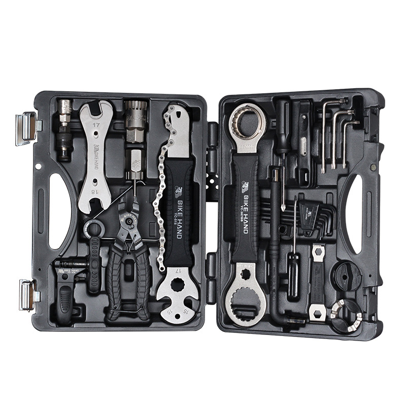 BIKEIN 18 en 1 Kit d'outils de réparation de vélo ensemble multifonction vtt outils de réparation de chaîne de pneu clé à rayons tournevis hexagonal outils de vélo - 3