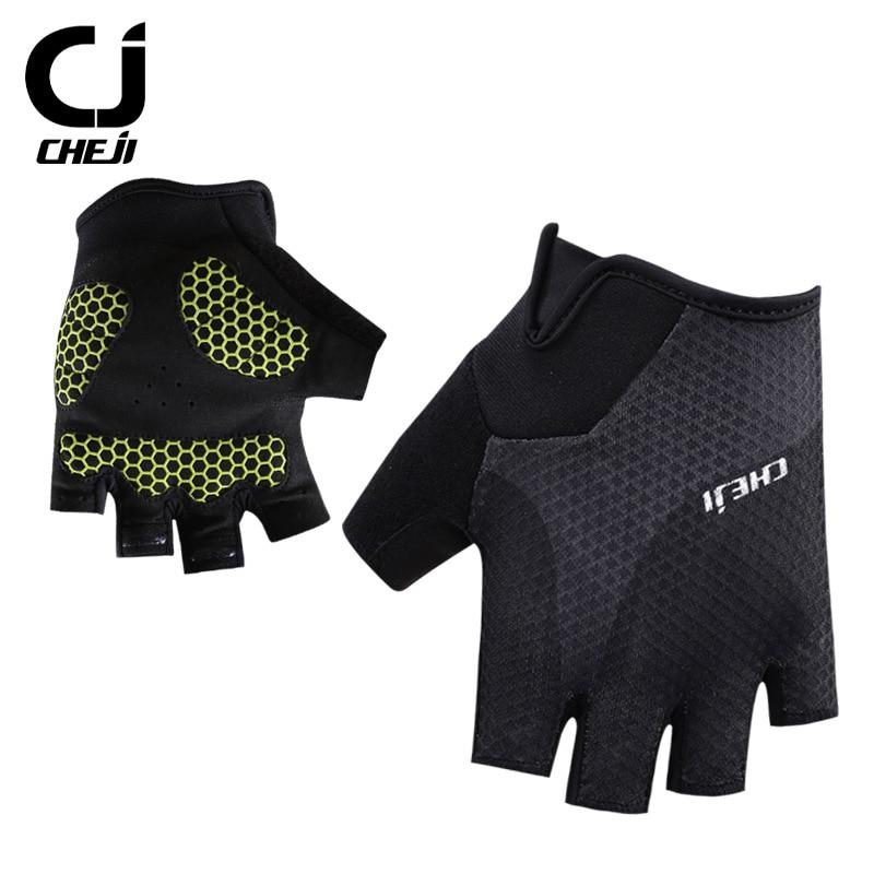 Breathable Half Finger Bike Gloves Anti-Skid Gel Padded Sports Cycling Gloves..