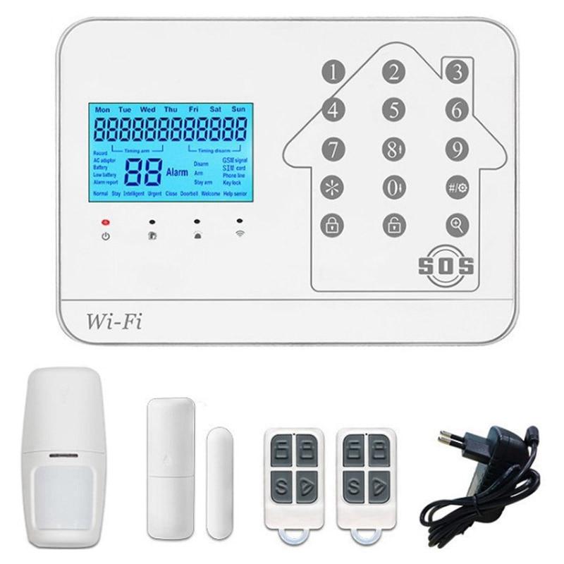 Wifi+Gsm+Pstn Three Network Alarm Host Wifi Host App Remote Alarm App Control Home Security Alarm(Eu Plug)