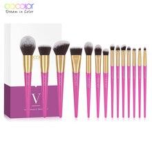 Docolor Makeup Brushes Set 14PCS Professional Make Up New for Face  Foundation Powder Eyeshadow