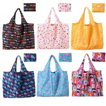 Torby na zakupy wielokrotnego użytku torby na zakupy na butikowe torby na zakupy niestandardowe torby na zakupy z Logo na co dzień z kwiatowym poliestrem torby na zakupy tanie i dobre opinie CN (pochodzenie) Poliester Polyester WOMEN Floral zipper 20cm Women Shopping Bag