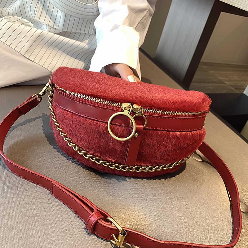 MONNET CAUTHY ฤดูหนาวใหม่เอว CLASSIC Elegant สุภาพสตรีกระเป๋าสีดำสีแดงสีเทาสีเขียวสีชมพูสีขาวซิปหน้าอกกระเป๋า