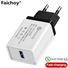18W EU/US Quick Charge QC 3.0 USB Phone Charger Wall Charger Adapter สำหรับ Samsung Xiaomi huawei iPhone 6 7 8 X XR 11(China)