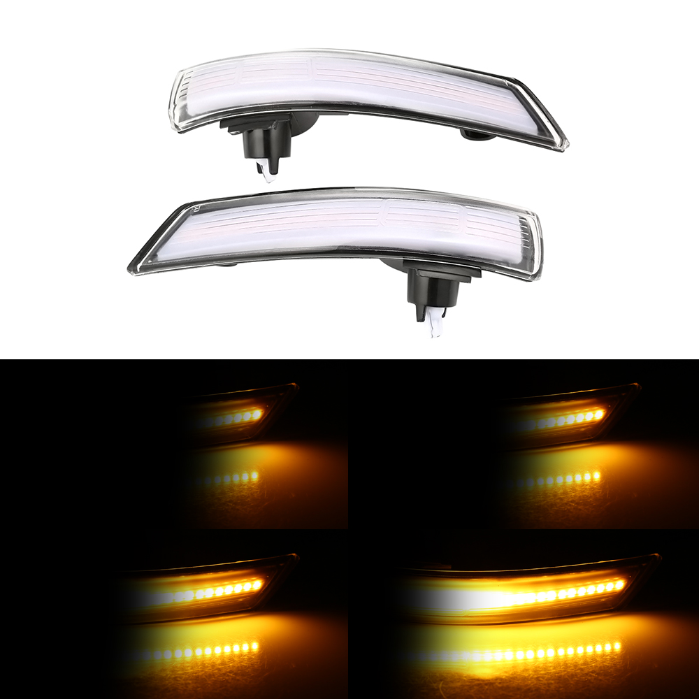 2 pieces For <font><b>Ford</b></font> <font><b>Focus</b></font> Hatchback 2012-2018 Dynamic Turn Signal Light LED <font><b>Side</b></font> Wing Rearview <font><b>Mirror</b></font> Indicator Repeater Light image