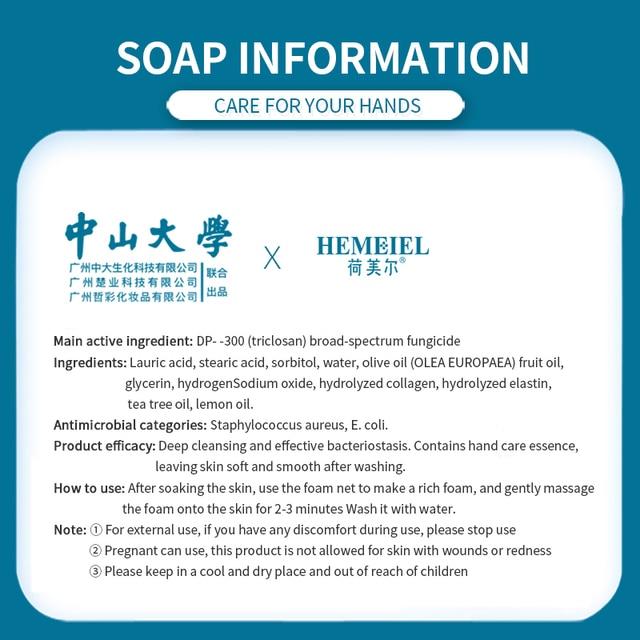 HEMEIEL Disinfection Hand Soap Anti Virus Lemon Essence Pimple Acne Treatment Face Soap Handmade Body Wash Sterilize Oil Control 1