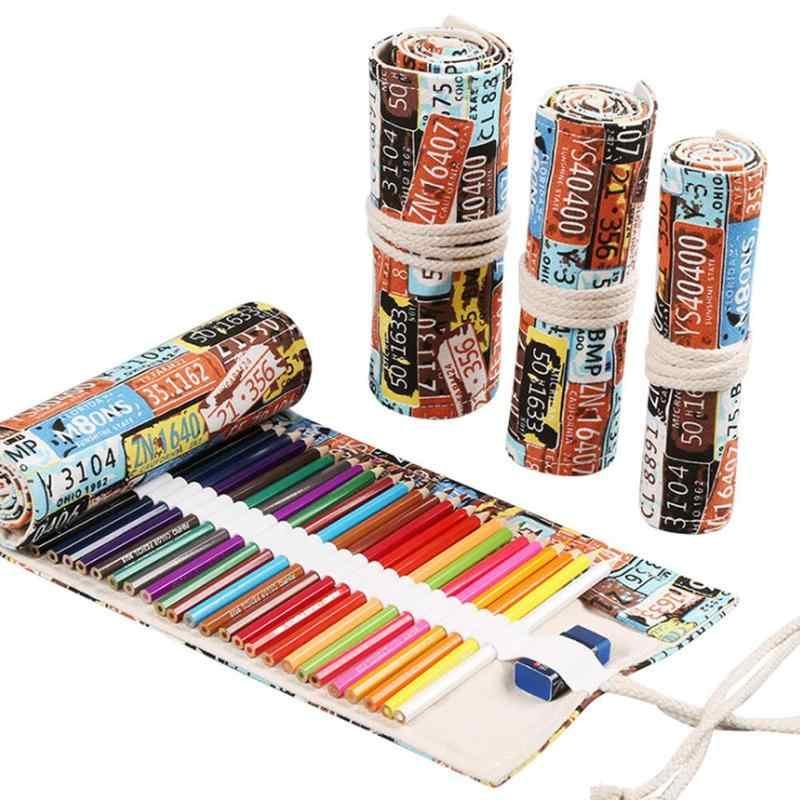 12/24/36 ม้วนกระเป๋าใส่ดินสอ Kawaii ปากกากล่องอุปกรณ์ขนาดใหญ่ Pencilcase Penal เครื่องเขียนเด็กกระเป๋าน่ารักสำหรับสาว S7N4