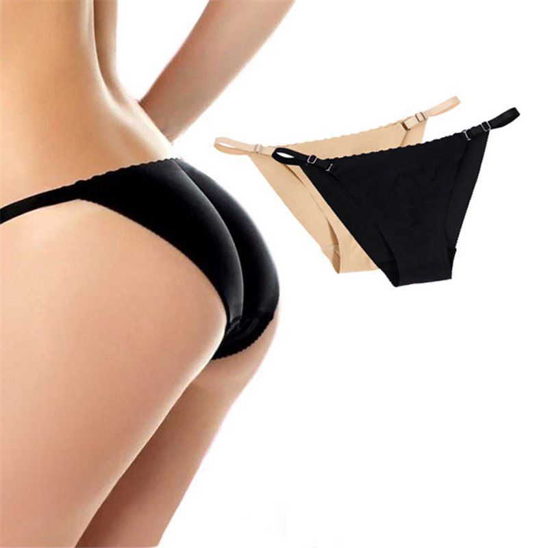 South Korea Soft Fleshcolor Hidden Bikini Butt-lift Underwear Women's Fake Hip Exaggerates Hips Buttock Padded Briefs Knicker Wo