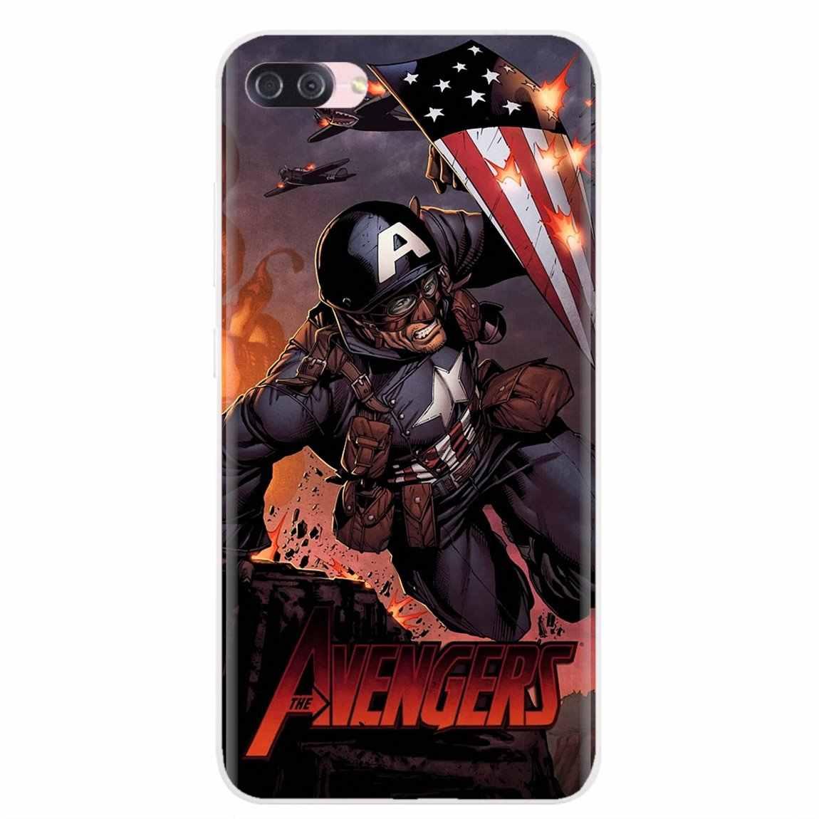 Silicone Shell Cover untuk BQ Bqs S 5059 5035 6040L untuk HTC U11 U12 Plus For LG K10 K8 K7 k4 2017 Avengers Catwoman Ironman Spider
