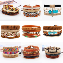 купить Fashion Gypsy Weave Hemp Rope Woman Bracele Handmade Boho Charm Stackable Wrap Bracelets Multi-layer Adjustable Bracelets Bangle дешево