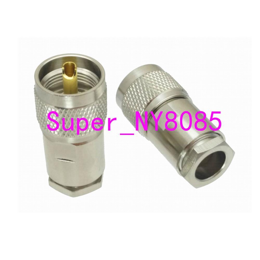 10pcs Connector PL259 UHF Male PLUG Clamp RG8 LMR400 RG213 RG165 RG393 RG214