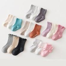 Toddler Socks Newborn Girls Kids Cotton Non-Slip Ruffles Baby Silicon Winter Boys Cute