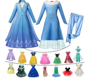 цены Kids Carnival Clothing Girls Cinderella Halloween Dress Cosplay Costumes Blue Clothes Child Christmas Birthday Princess Dresses