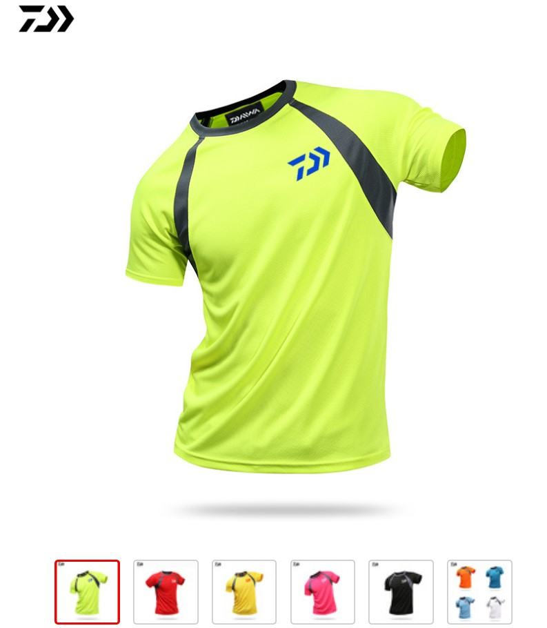 Daiwa Clothing Fishing Clothes Summer Short Sleeve Quick Drying Sunscreen Breathable Tshirt Anti-UV Ultrathin  Fishing Shirt