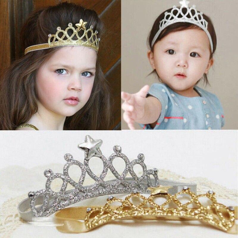 Hair Accessories Baby Girl Crown Hairband Toddler Headband Kid Tiara Birthday Princess Costume Headwear