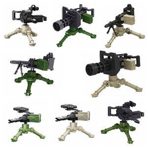 Military Weapon Accessories Aviation Machine Gun Gatlin German Army Weapons World War II Model Building Blocks Boy Toys Gift(China)