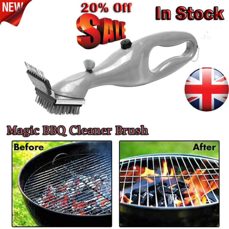 Stainless Steel Grill Steam BBQ Cleaning Brush Barbecue Cooking Clean Tool New
